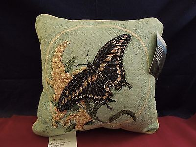 """Manual Woodworkers and Weavers Throw Pillow """"Graceful Flight"""" 12.5X12.5"""