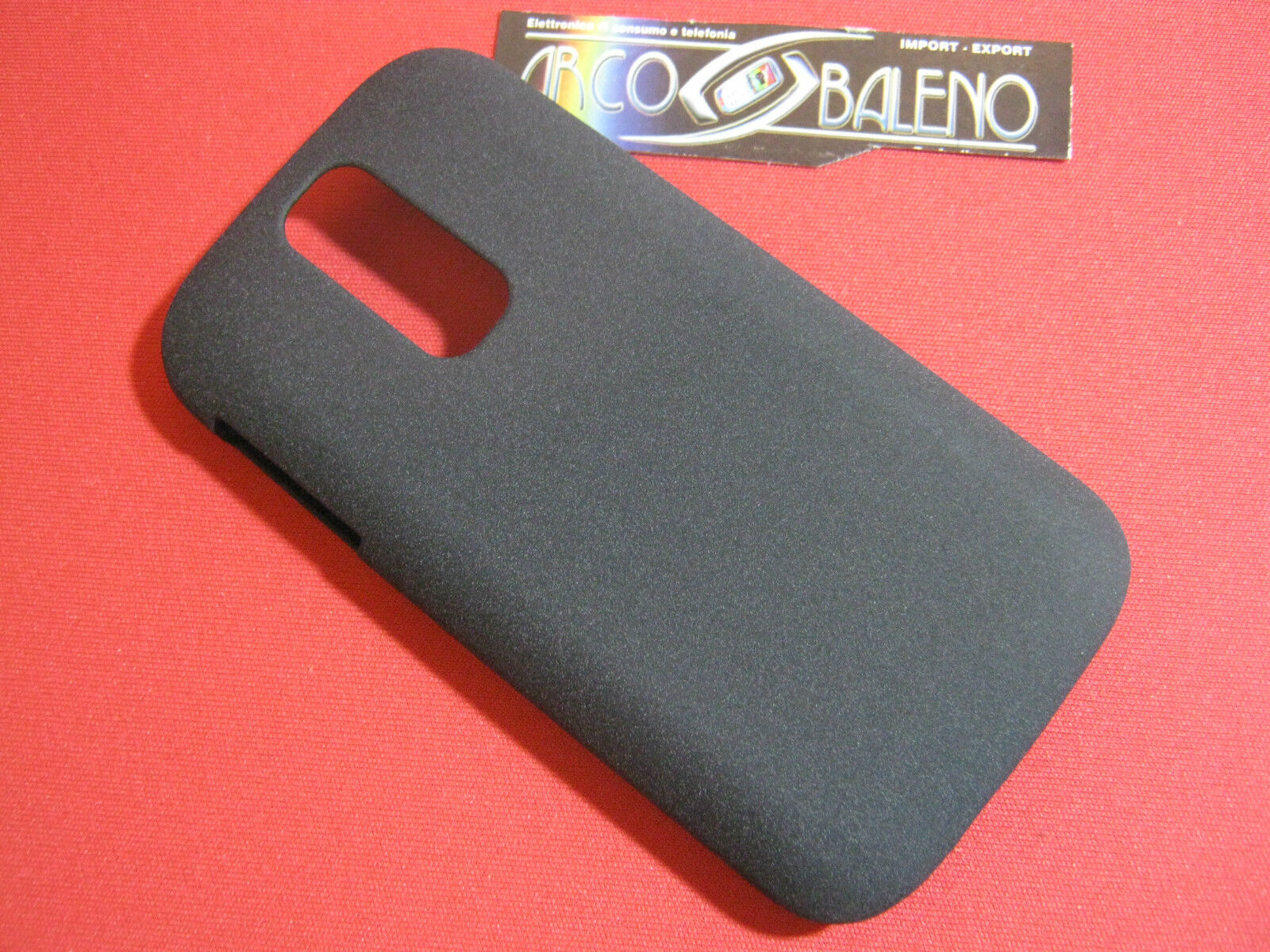 CUSTODIA HARD CASE RIGIDA per ALCATEL OT ONE TOUCH 993 993D COVER NERO BLACK