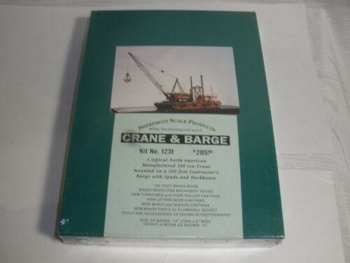 Sheepscot scale productions crane & barge HO scale building kit #1231