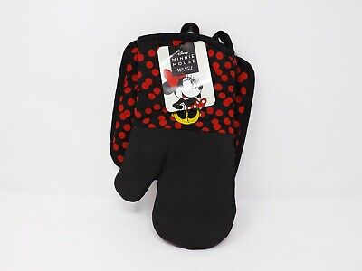 Set of 2 Best Brands Disney Minnie Mouse Kitchen Oven Mitt & Pot Holder