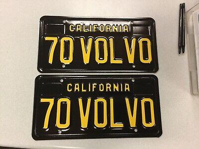 """""""70 VOLVO"""" California Black Plates, Volvo, 1970, 164,1800E, 140, 142, 144"""