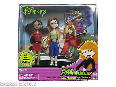 """50024 Kim Possible & Monique 2-Piece Mini Fashion Doll 4"""" BRAND NEW"""