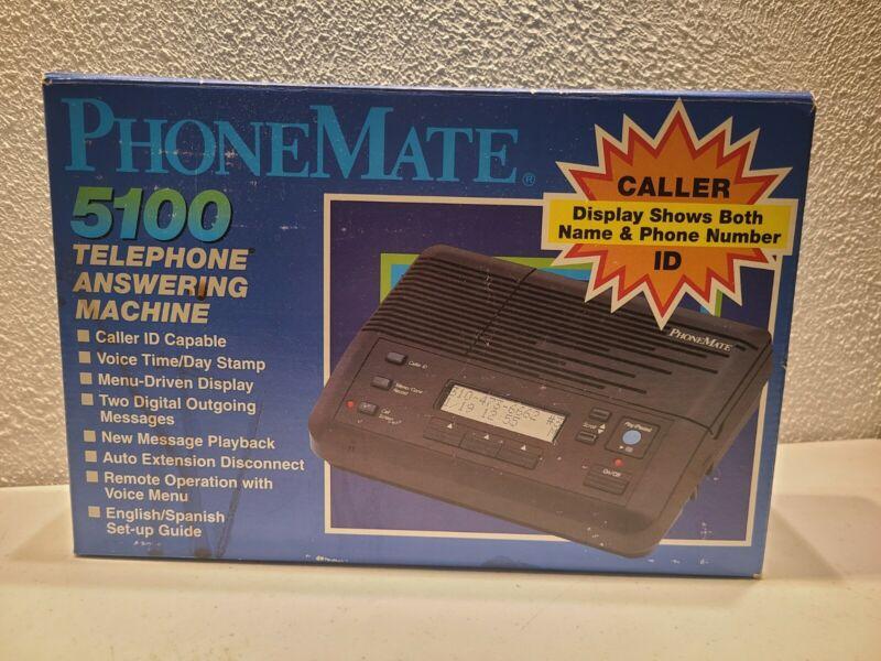 NIB Phone Mate 5100 Cassette Analog Telephone Answering Machine