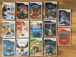 Wii Game Lot (Star Wars, Transformers, Rock Band)