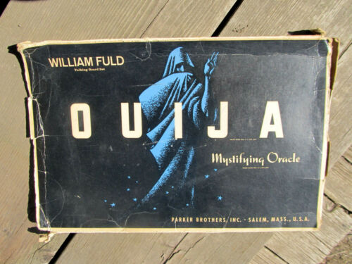 Vintage Ouija Board Game William Fuld Parker Brothers with Planchette Parts