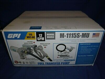 Great Plains Industries Ac Powered Fuel Transfer Pump- 115v 12 Gpm M-1115s-mu