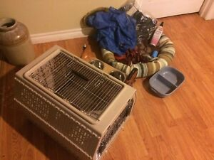 Small Dog crate and other items
