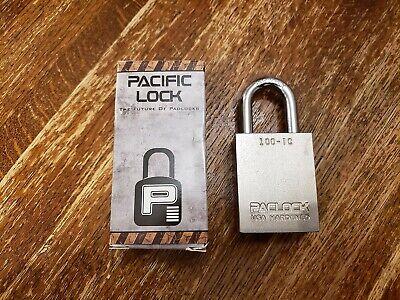 Pacific Lock Paclock 100-ic Sfic Solid Steel Rekeyable 516 Shackle Padlock