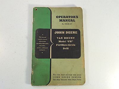 John Deere Van Brunt Fb Fertilizer-grain Drill Om-m2-449 Operators Manual Oem
