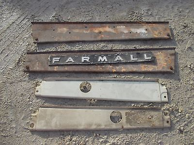 Farmall 706 806 Rc Tractor 4 Original Ihc Ih White Hood Side Cover Panel Panels