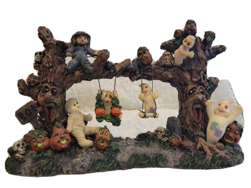 Halloween Haunted Swings Ghosts Jack O Lanterns Table Centerpiece Figurine