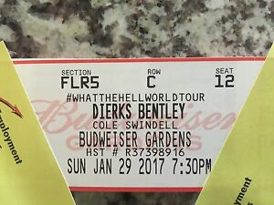2 Dierks Bentley tickets. Budweiser Gardens  London Ontario image 4