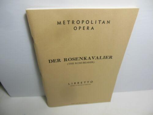 Vintage 1943 MET Metropolitan Opera Libretto Der Rosenkavalier Strauss