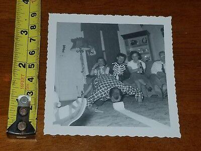 Halloween 1952 (RARE OLD VINTAGE PHOTO 1952 HALLOWEEN SKELETON PARTY)