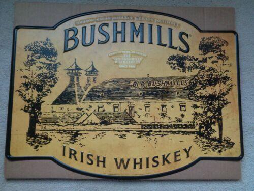 BUSHMILLS IRISH WHISKEY TIN SIGN 18 X 24 New! RARE