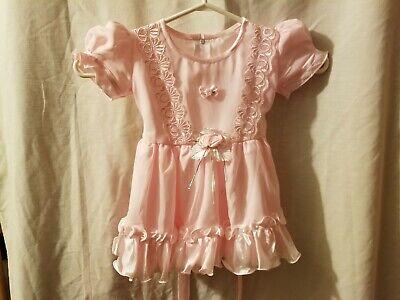 Dress Like 80s Girl (Vintage 80's Baby Girls Dress Looks like 6-12 Months EUC Pink)