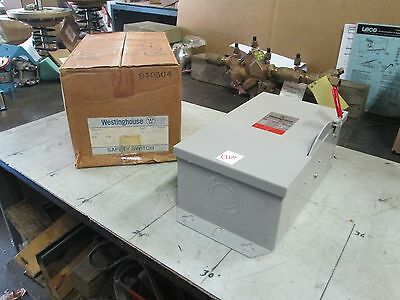 Westinghouse Heavy Duty Safety Switch Hun261 30a 600 Vacdc Nib