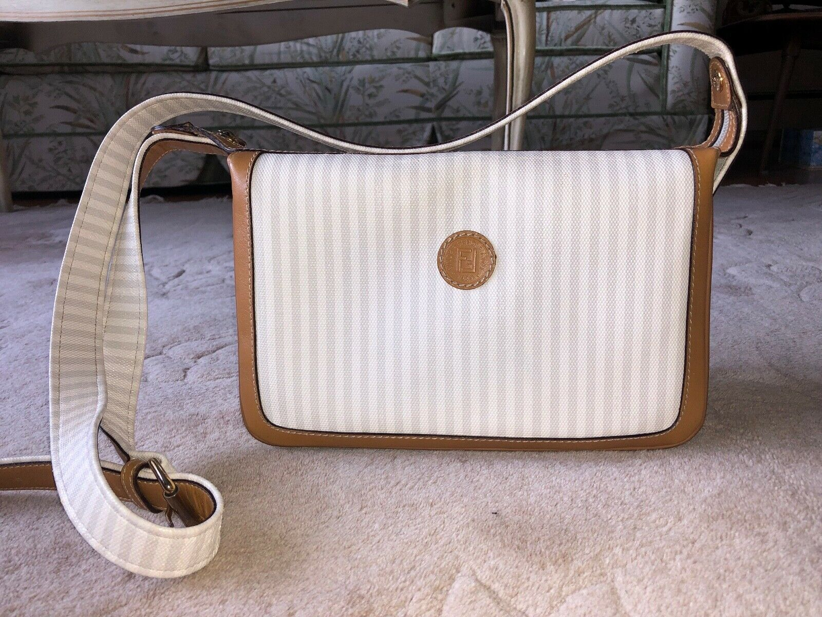 Authentic Vintage FENDI Crossbody Handbag