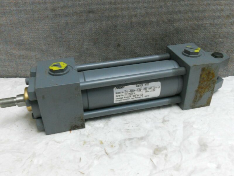 MILLER PNEUMATIC CYLINDER HV2-84B2N-01.50-3.500-0063-S44V-9 NEW-NO BOX HV284B2N