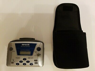 Aiwa HS-TA60 AM//FM Stereo Turner Personal Stereo Cassette Player Super Bass
