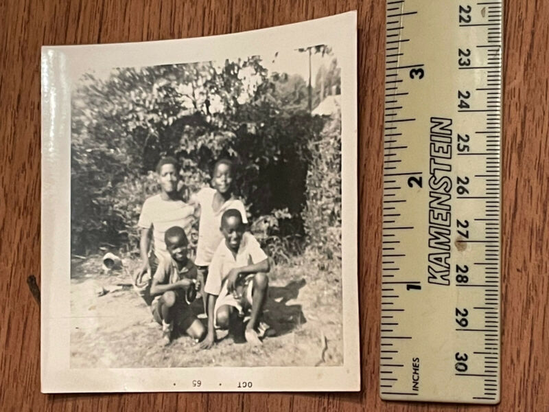 Vintage photo African American Group young Children Boys 1965- read description
