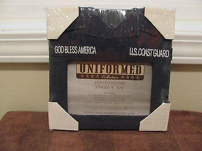 Coast Guard Photo Frame - Uniformed COAST GUARD Photo Frame *Holds 4