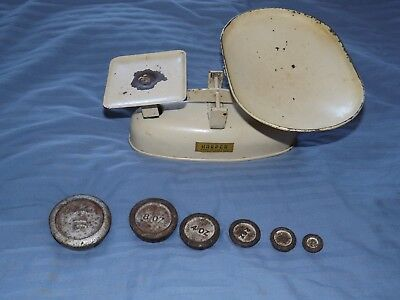 Harper Vintage Kitchen Scales With 6 Weights And Pan kitchenalia 1950's retro