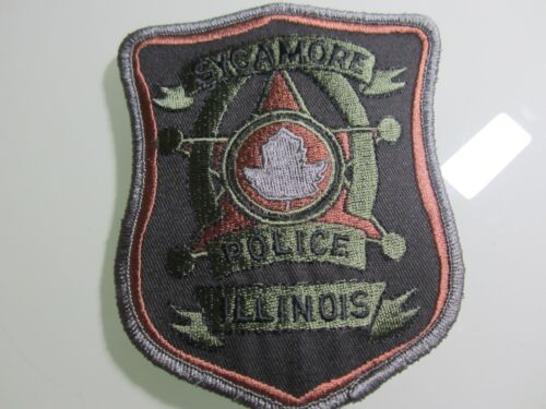 SUBDUED SYCAMORE POLICE DEPT. PATCH (STAR)