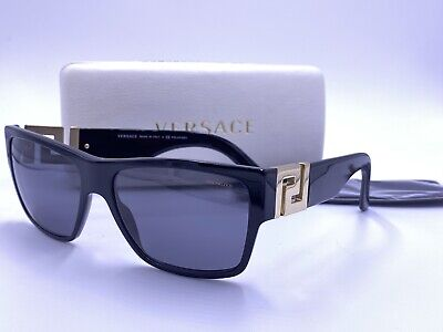 VERSACE Sunglasses VE4296 GB1/81 POLARIZED Gloss Black/ Gray AUTHENTIC MOD.4296