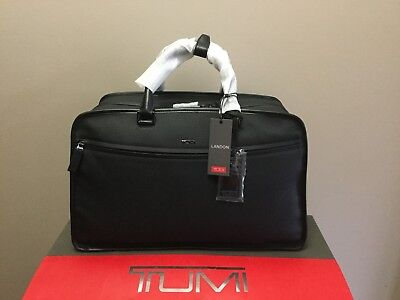 Tumi Howell Duffel Landon Black Leather Travel Carry On Bag 93802D $2000