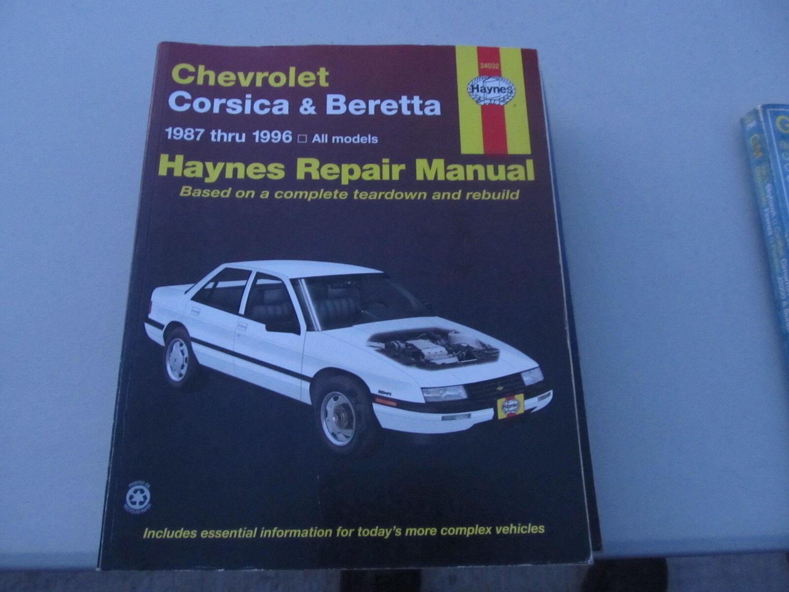 Haynes Chevrolet Corsica & Beretta 1987-1996 repair manual
