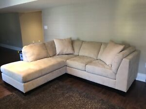 Beije L Shaped Couch **great condition, barely used**