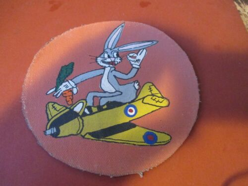 WWII RCAF WB BUGS BUNNY PILOT TRAINING SQUADRON   FLIGHT JACKET PATCH