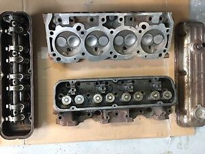 Buick small block 350 cylinder heads with new valves and springs