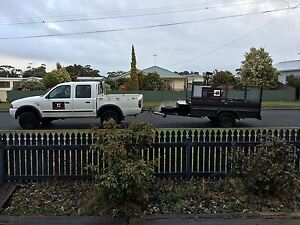 Ford courier (4x4 TD) trailer mower package swap/sale Stieglitz Break ODay Area Preview