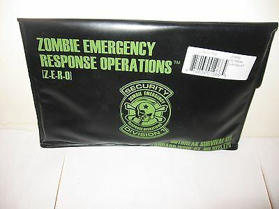 Zombie Outbreak Emergency Survival Kit w/ Posters, Cards, Toe Tag -WALKING DEAD
