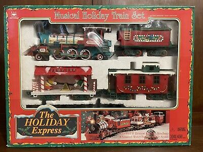 New Bright The Holiday Express Musical Holiday Train Set Vintage 1996