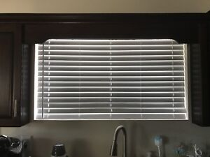 """50"""" Faux Wood White Blinds"""