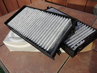 BMW E70 E71 X5 X6 Cabin Air Filter SET for Fresh Air Activated Charcoal New OEM