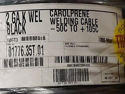 Carol 01776 2awg Premium Carolprene Weldingbattery Cable 105c600v Black 20ft