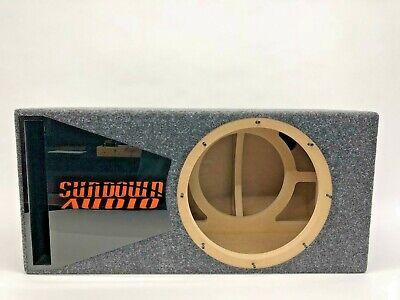 Sundown Audio SA-12 ported subwoofer box SPECIAL EDITION black plexi port trim