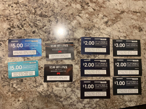 Camel Coupons 25 Value - See Expiration Dates  - $8.50