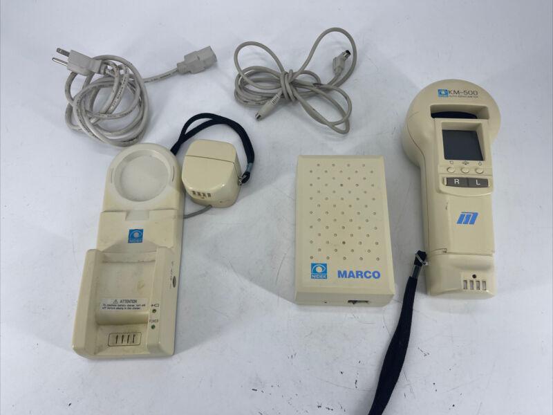 Nidek Marco KM 500 portable Auto-keratometer Bad Batteries