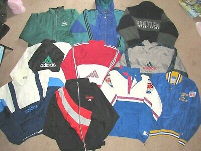 Wholesale Resell LOT 16 PC~ Vintage Windbreakers Jackets adidas Starter Nautica