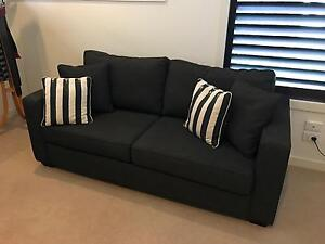 Charcoal/Brown Warwick Sofa Bed - Hardly used! Footscray Maribyrnong Area Preview