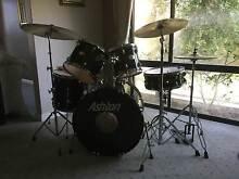 Ashton Acoustic Drum Kit Plus Silencers plus extra cymbal Hillarys Joondalup Area Preview