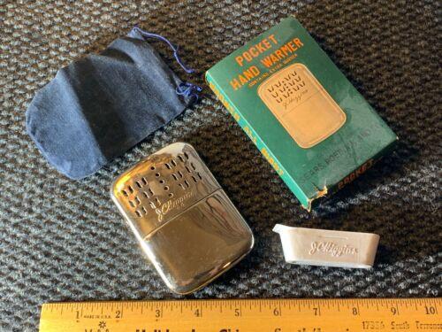 ☆ Vintage J.C. Higgins/Sears Pocket Hand Warmer With Original Case/Bag/Filler ☆