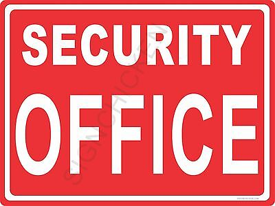Security Office - 9 X 12 New In Package Aluminum Sign Store- Retail Business