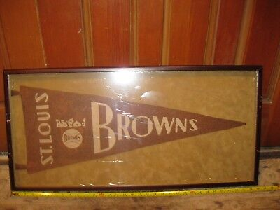 1930's St. Louis Browns Pennant Framed  - Pennant Frame