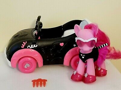 "My Little Pony Pinkie Pie's Boutique Fashion Car 6"" Pinkie Pie,Sunglasses, Shoes"